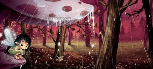 Fairy-in-the-rain