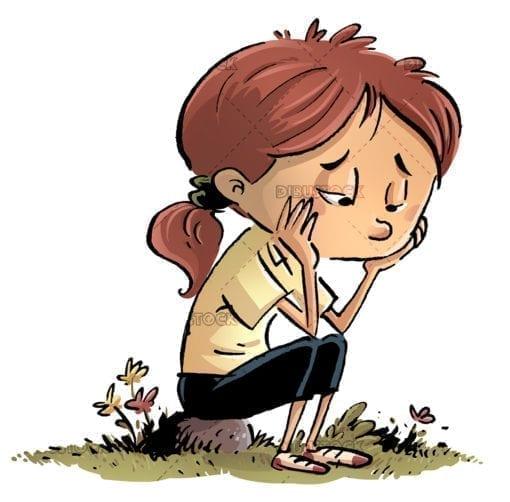 Bored and sad girl