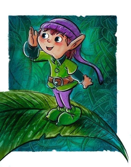 Goblin on the leaves