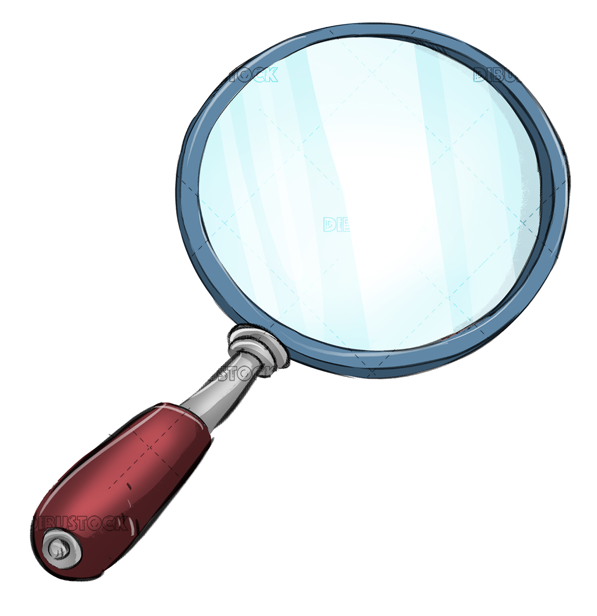 Magnifying Glass Drawing Dibustock Ilustraciones Infantiles De Stock