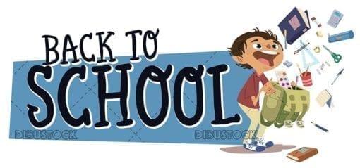 Back to school School Supplies text