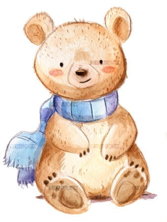 Bear with scarf