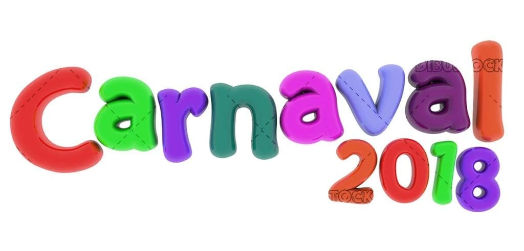 Carnival 2018 colorful text like balloons