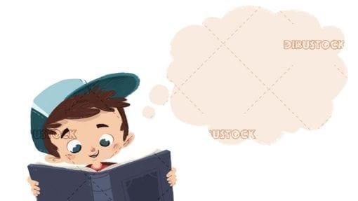 Child imagining while reading