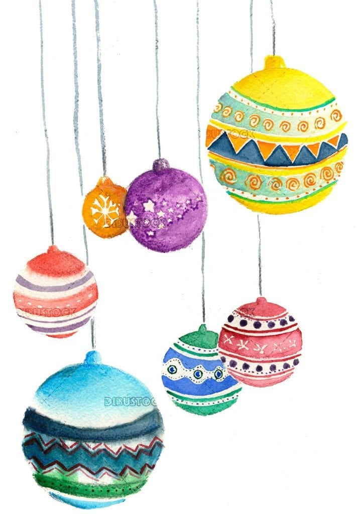 Christmas balls of colors. Christmas decoration