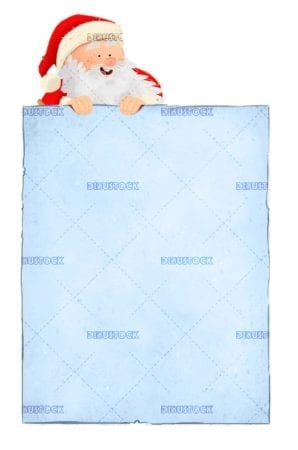 Letter to Santa Claus at Christmas