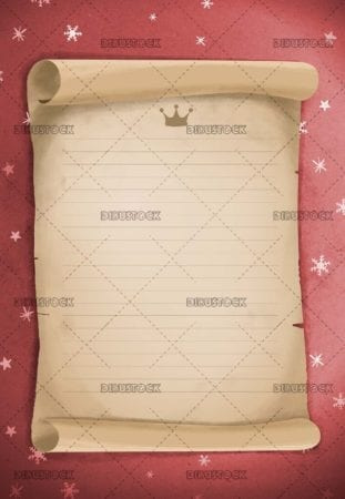 Letter to the wise men or Santa Claus with red background