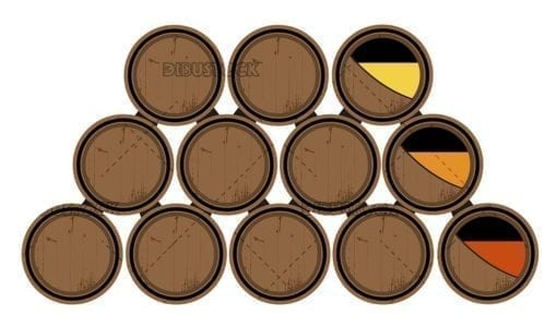 Oak wine barrels. System of screeds and hatcheries