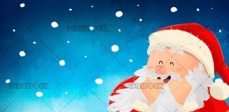 Santa Claus laughing at Christmas