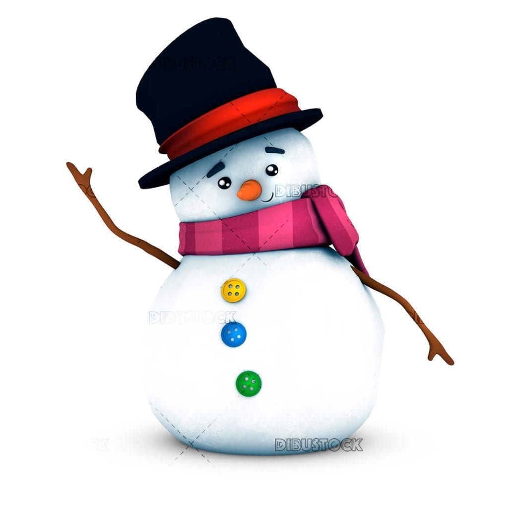 Snowman with white background