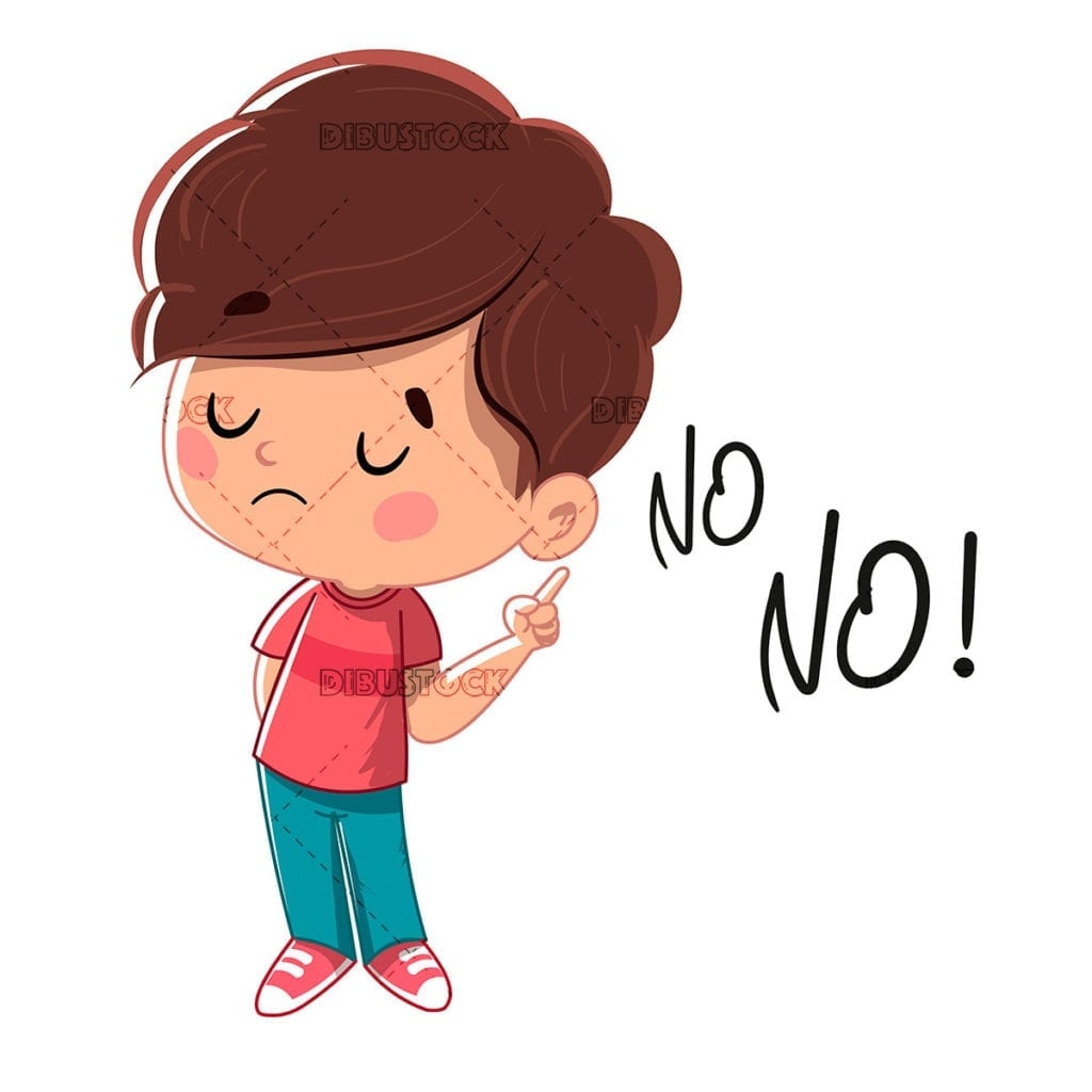 Boy saying no
