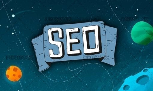 seo web positioning with space background