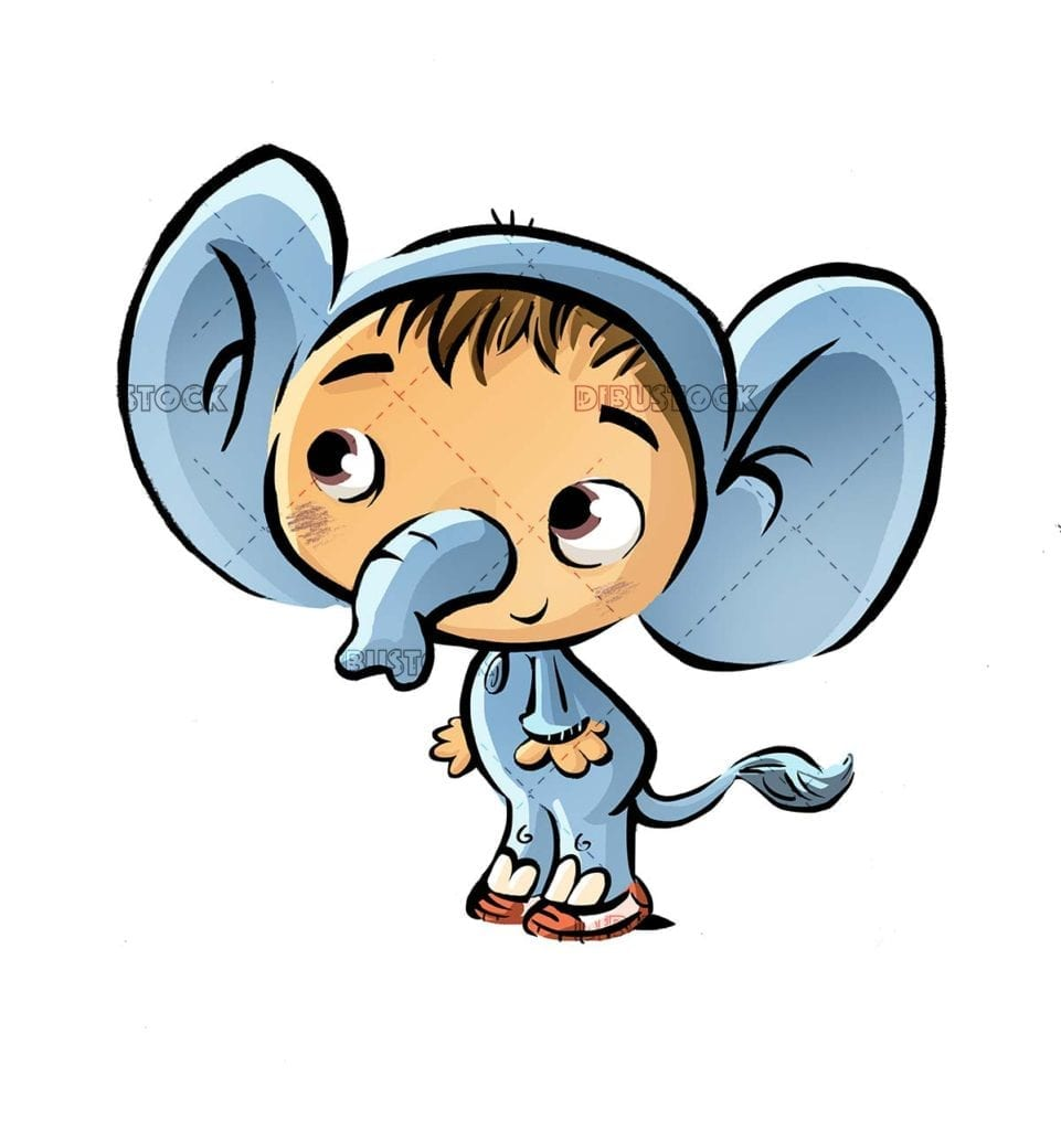 boy with elephant costume