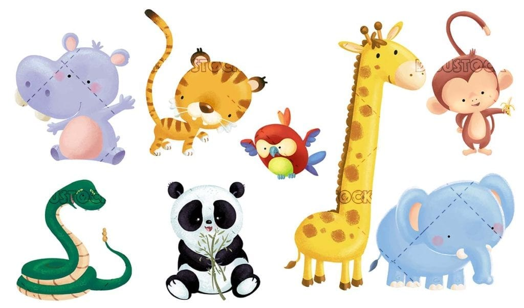 different animals for babies