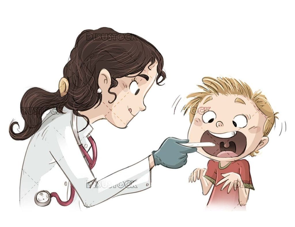 female doctor doing a medical check up on a child