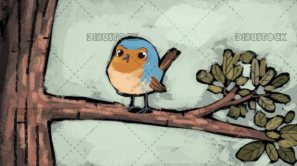 robin bird on a tree branch