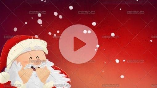 Santa Claus at Christmas laughing video