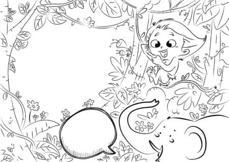 Selva con niño salvaje