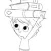 niño con libros y un gato low 1