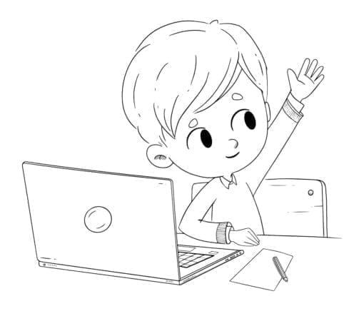 niño con un ordenador low 1