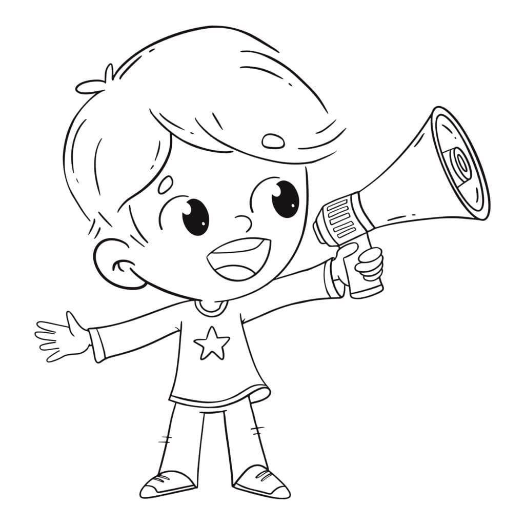 niño megafono