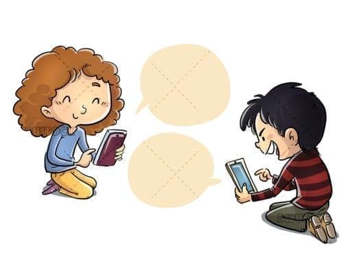 Children communicating through social networks
