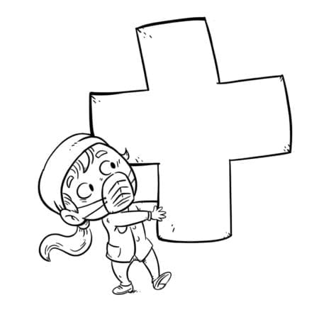 enfermera cruz coloring low