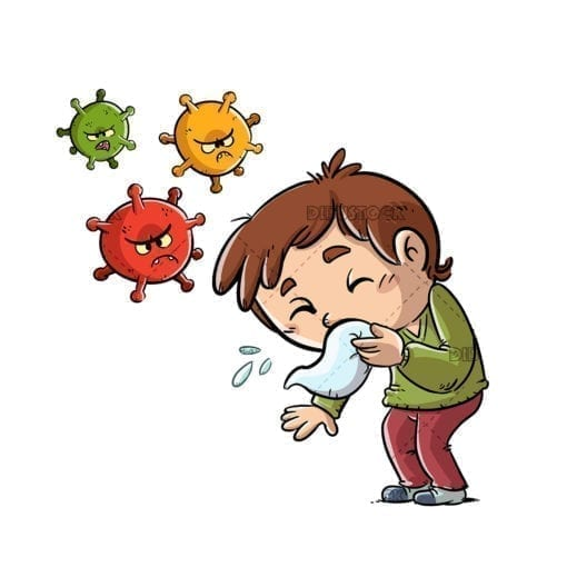 kid sneezing and spreading virus 1
