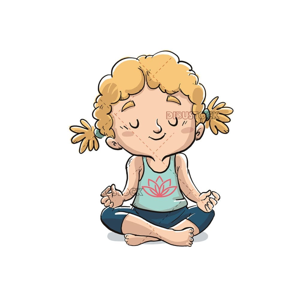 small girl in yoga posture