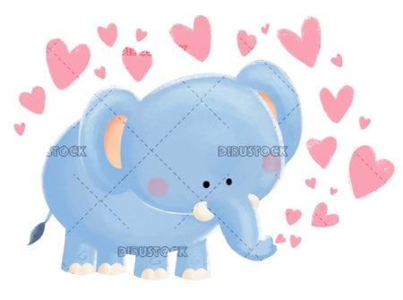 Elefante con corazones20