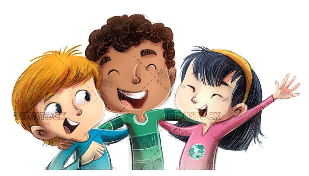 Happy children of different ethnicities