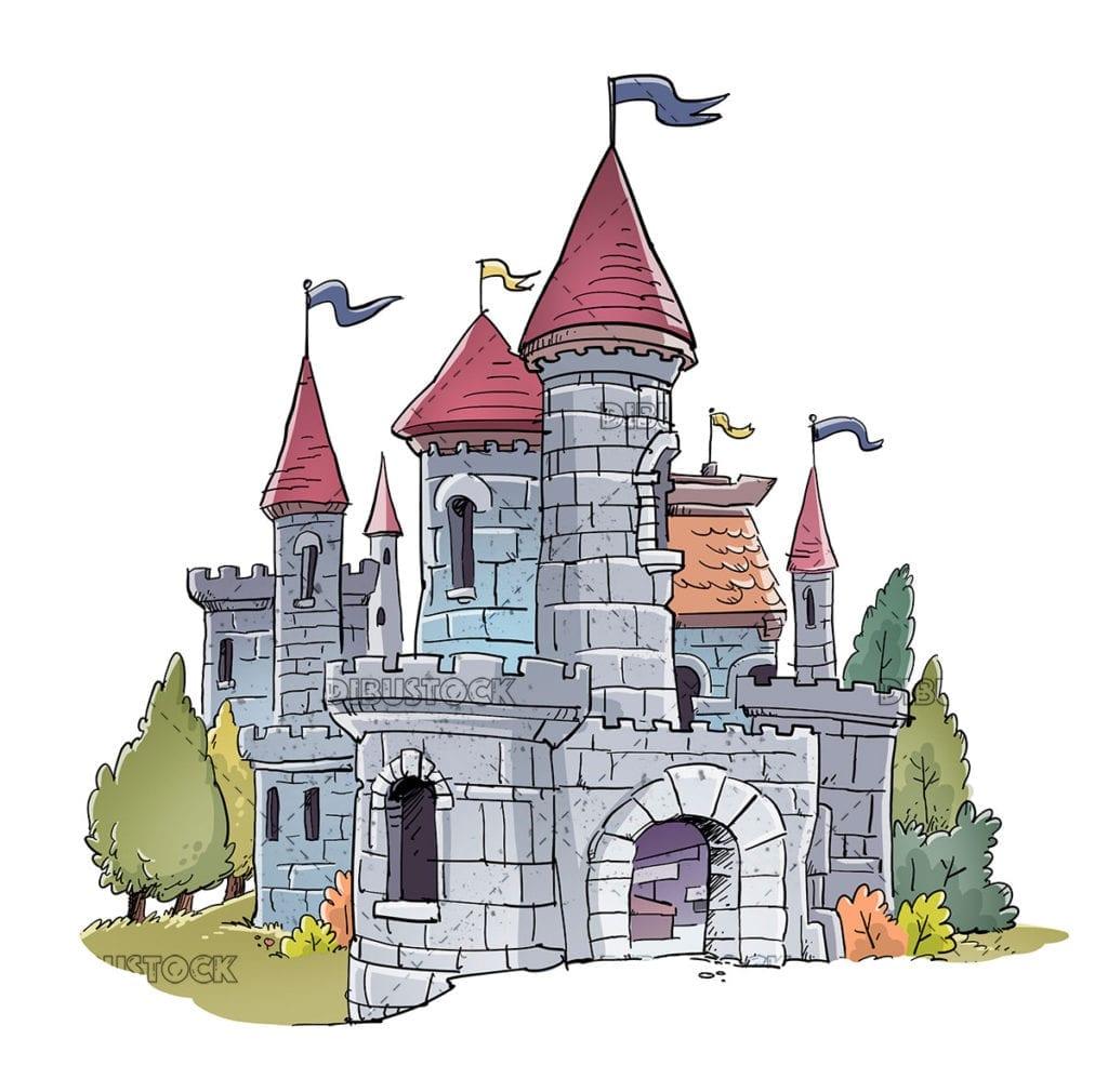 Illustration of fantastic medieval castle