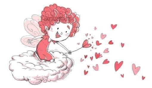 Love fairy on a cloud