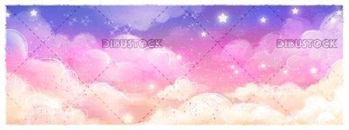 Magic sky background