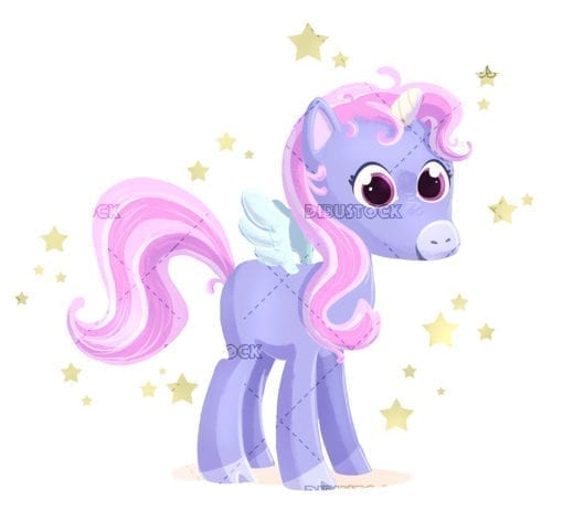 Magic pony with wings