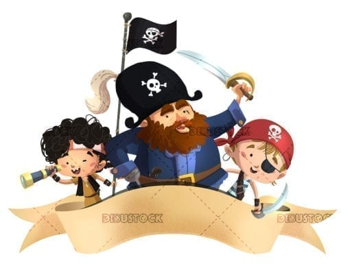 Pirates with border