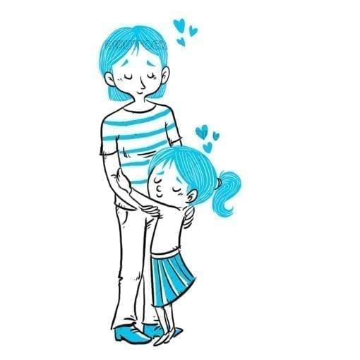 Hug between mother and daughter20
