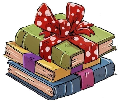 Gift wrapped books