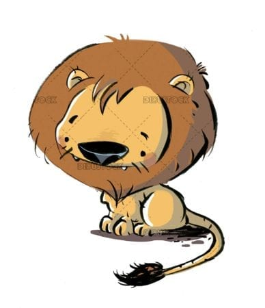 Isolated funny lion