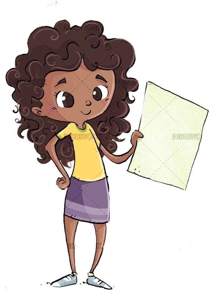 African American student girl