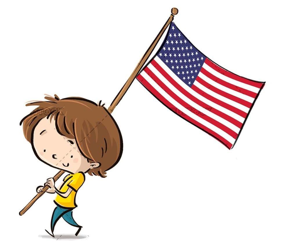 Boy with USA flag