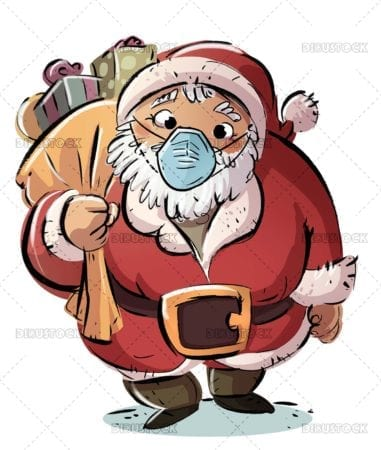 Santa Claus with mask