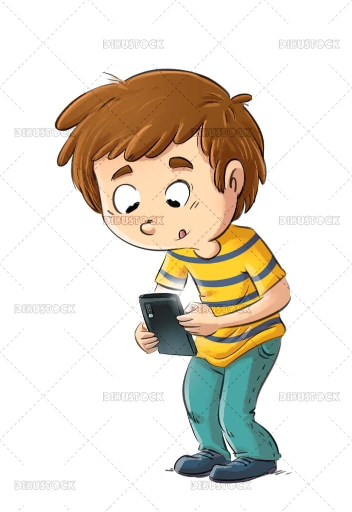 Mobile addicted child