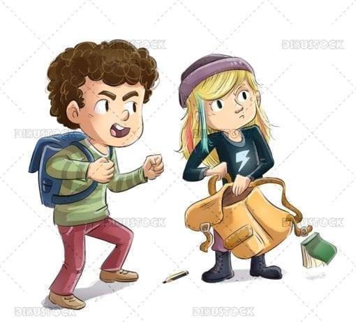 Angry hooligan kids