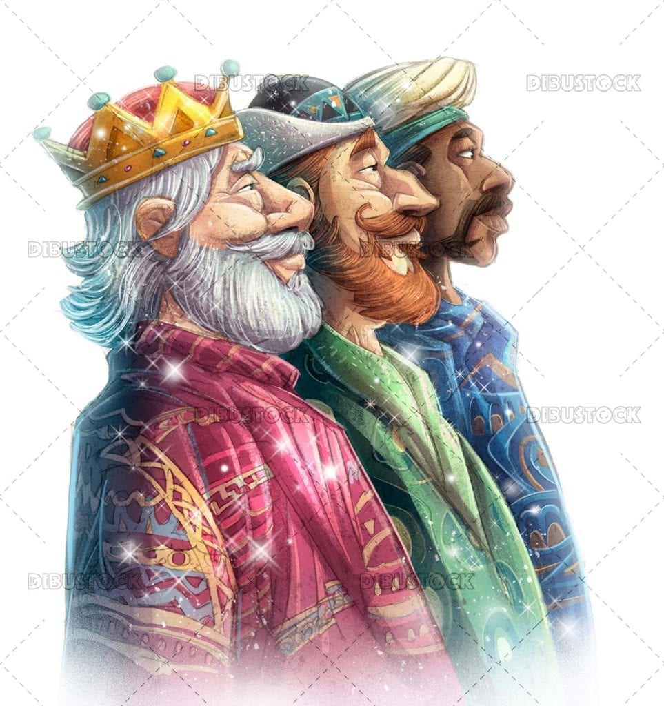The faces of the Three Kings