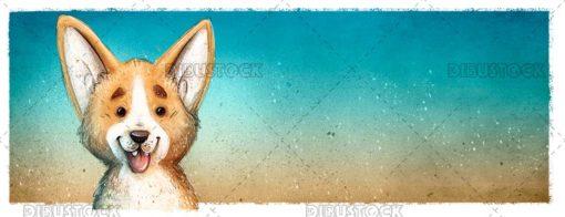 Big eared dog face